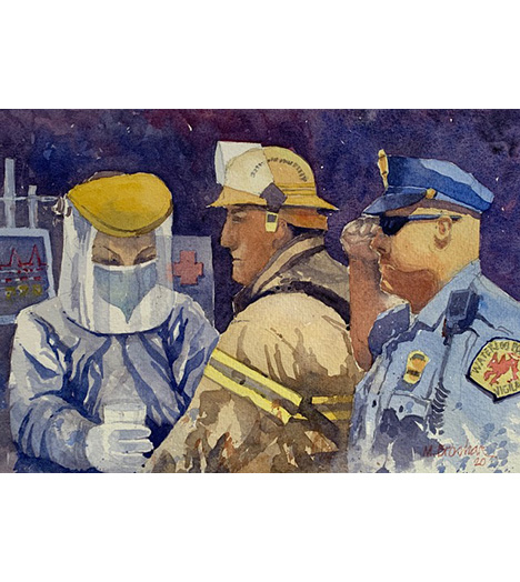 First Responders Fund Watercolor Print